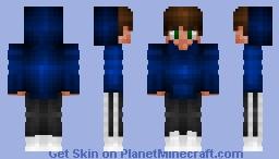 Boy in a hoodie Minecraft Skin