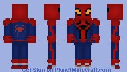 The Amazing Spider-man suit (2012) better version   (TASM) Minecraft Skin