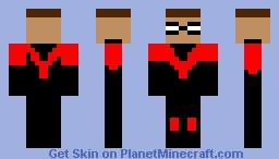 Robin the  red bird from Batman & Robin Minecraft Skin