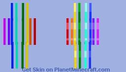Prismatic Skin - Vertical Without Black Minecraft Skin