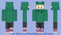 Tubbo (frog hoodie) *based on pfp!* Minecraft Skin