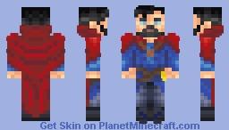 Yuki's Dr. Strange Reshaded & Recolored Minecraft Skin