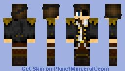 Pirate Raised Strap Minecraft Skin