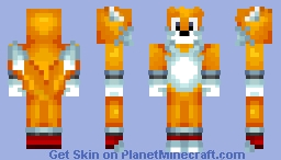 Miles 'Tails' Prower The Fox | Classic | Sonic The Hedgehog 2 | 1.8+ Minecraft Skin