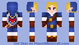 Link | Zora Tunic |  Ocarina of Time | 1.8+ Minecraft Skin