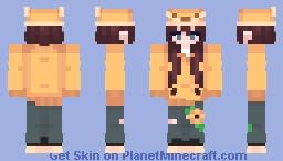 little fox girl :0 ( gacha club based skin ) Minecraft Skin