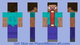 Steve Jaw Dropper Minecraft Skin