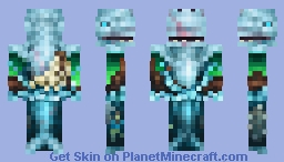 Split your lungs with blood and thunder when you see the white whale Minecraft Skin