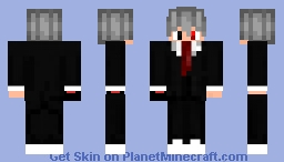 evil guy in a suit (hiding his left arm) Minecraft Skin