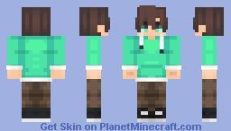 Boy with Spearmint Jacket Minecraft Skin