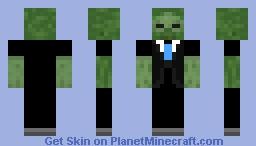 tuxido zombie Minecraft Skin