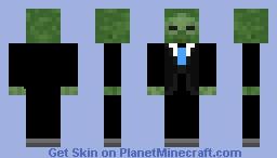 Tuxedo Zombie Minecraft Skin