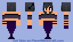 Dark mermaid Minecraft Skin