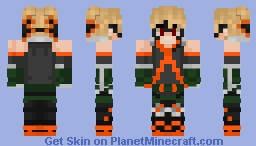 Bakugo Minecraft Skin