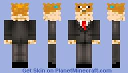 Pufferfish Tuxedo Minecraft Skin