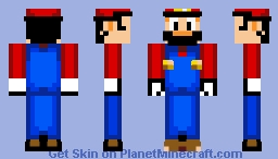 Mario (Mario's Early Years Style) Minecraft Skin