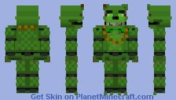 FNaF: Shamrock Freddy AR Minecraft Skin