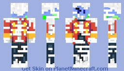 WackyEarth in an Eggman Suit Minecraft Skin