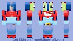 Mr Krabs Minecraft Skin