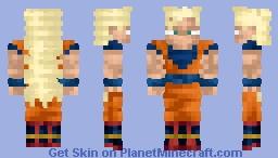 Son Goku Super Saiyan 3 Dragon Ball Z Revamp Minecraft Skin