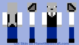 The G.W.S.S (Great White Suited Shark) Minecraft Skin