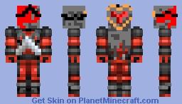 dead pool knight Minecraft Skin