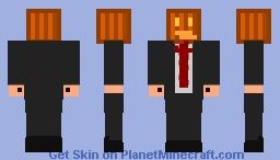 Pumpkin-Head Businessman Minecraft Skin
