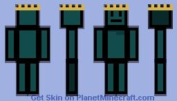 Turquoise Block King Minecraft Skin