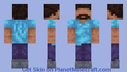 steve but stache 😳 Minecraft Skin