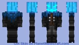 pumpkin blue Minecraft Skin
