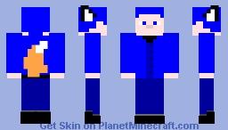 Kitsune YSG - MCC Blue Edition Minecraft Skin