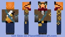Steampunk Fox Minecraft Skin