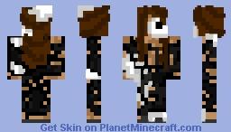 Ripped Dress Skeleton Gal Minecraft Skin