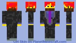 Blazing Obsidian Minecraft Skin