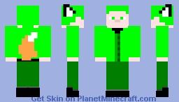 Kitsune YSG - MCC Lime Edition Minecraft Skin
