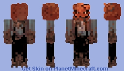🎃A scarecrow with a scary pumpkin head 🍂 Minecraft Skin