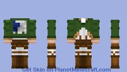 Survey Corps Uniform 1 - Attack on Titan Minecraft Skin