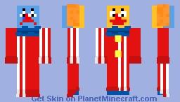 Two-faced Clown Minecraft Skin