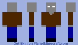 Herobrine's cousin Minecraft Skin