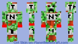 the dead creeper Minecraft Skin
