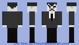Day 20 Monochrome Minecraft Skin