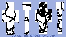 random white black man Minecraft Skin