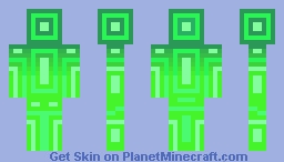 Lime Lines Minecraft Skin