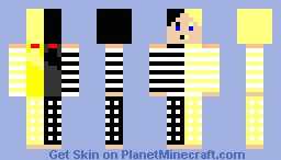 Simple black and yellow girl Minecraft Skin