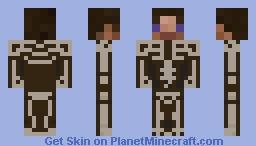 Steve's Skeleton Costume Minecraft Skin