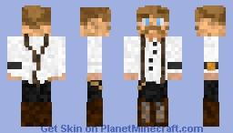 1800s Steampunk Bartender - Ozwald - Suspender Sunday Outfit Minecraft Skin