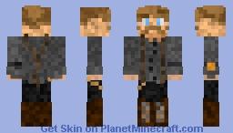 1800s Steampunk Bartender - Ozwald - Suspender Saturday Outfit Minecraft Skin