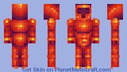 Flame Knight Minecraft Skin