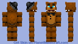 Freddy Fazbear Minecraft Skin