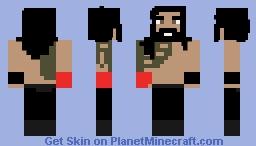WWE RAW vs SmackDown! Series 1: Roman Reigns: Skin 1/6 Minecraft Skin